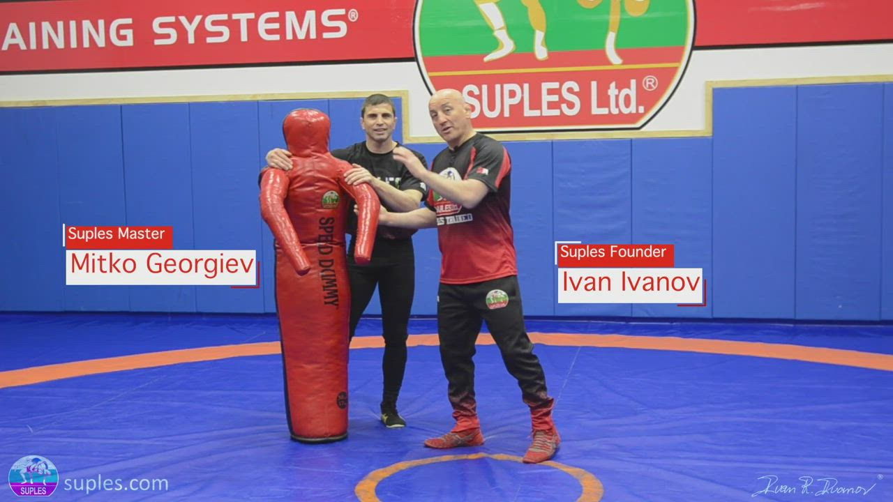 Wrestling drills and Warm up with the Suples Speed Dummy with Stump